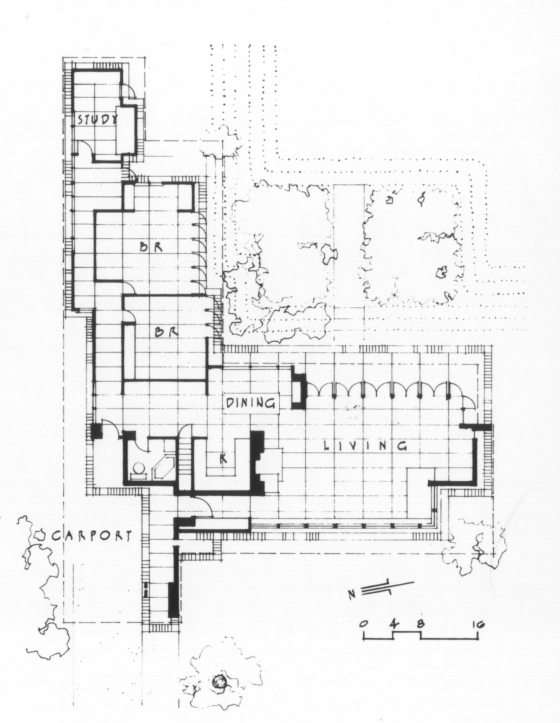 28+ [ Frank Lloyd Wright Usonian House Plans ] | Usonian Frank ...